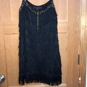 Black flapper girl dress